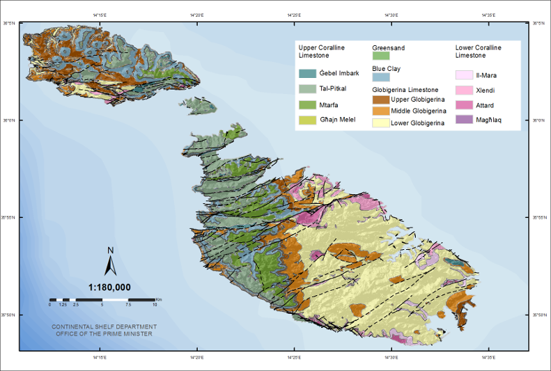 Geological Map of the Maltese Islands